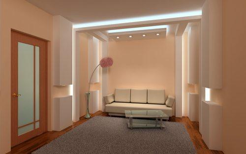 עיצוב גבס בסלון - נישות בסלון